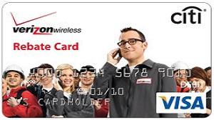 Verizon Wireless Rebate Card